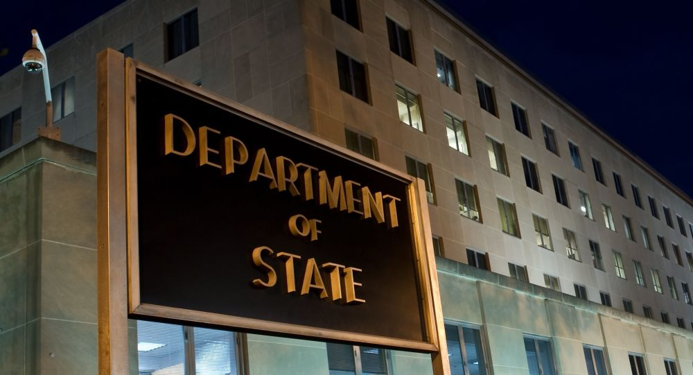 The US State Department is seen on November 29, 2010 in Washington, DC.