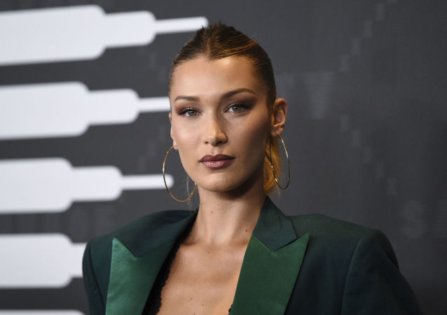 Bella Hadid attends the Spring/Summer 2020 Savage X Fenty show