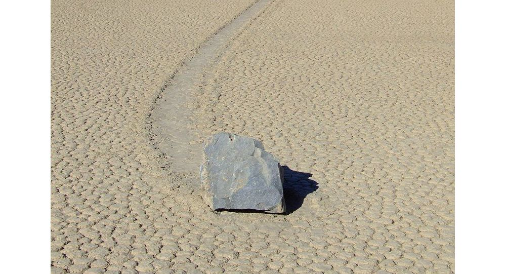 A sailing stone in Racetrack Playa