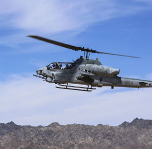 AH-1Z Viper at the Chocolate Mountain Aerial Gunnery Range, California