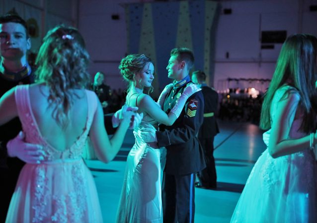 Can I Have This Dance? Cadets Waltz at New Year's Ball