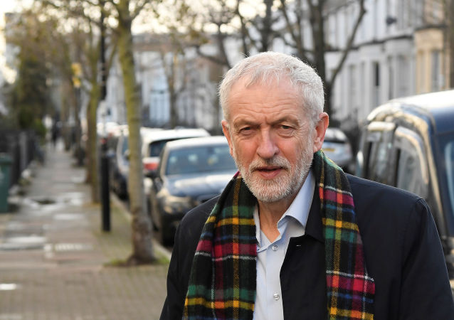 Britain's Labour Party leader Jeremy Corbyn is seen near his home in London, Britain, December 14, 2019