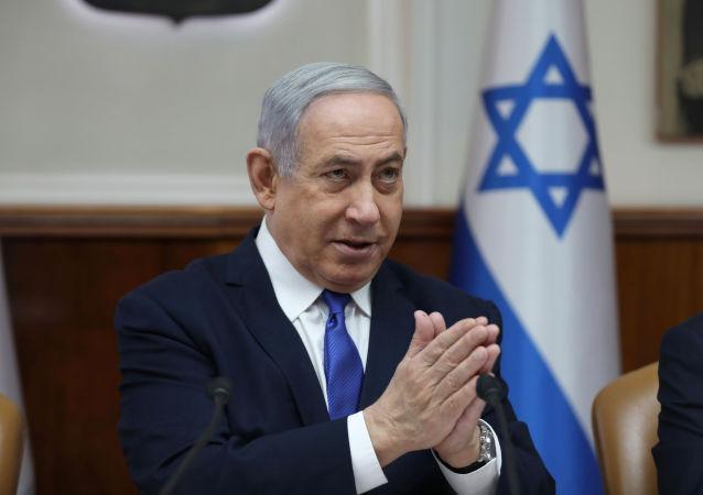 Israeli Prime Minister Benjamin Netanyahu attends the weekly cabinet meeting in Jerusalem, Israel, December 29, 2019