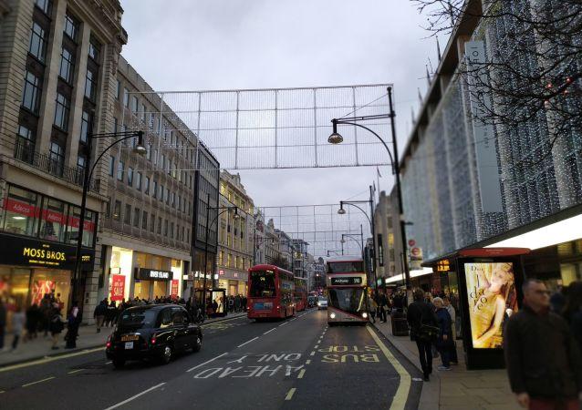 Oxford Street in London on 28 December 2019