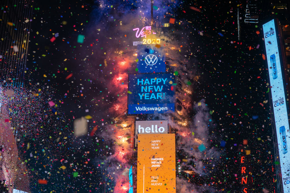World Rings in 2020 With Fireworks and Presents