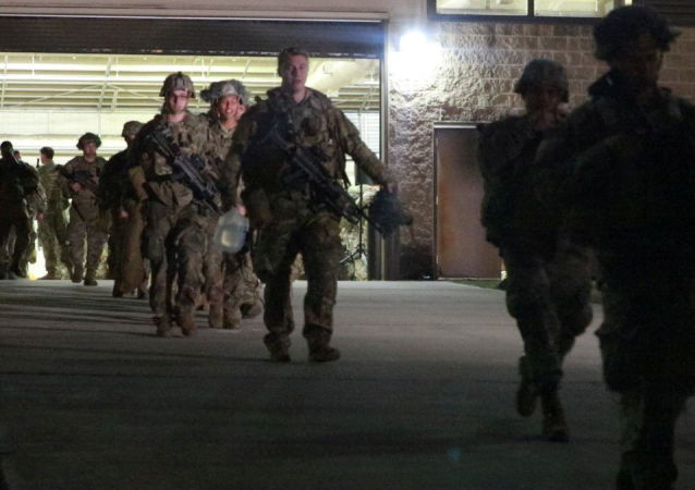 The first contingent of a paratroop infantry battalion from the U.S. Army's 82nd Airborne Division bound for Kuwait prepare to leave Fort Bragg, North Carolina, U.S. January 1, 2020. U.S. 82nd Airborne Division