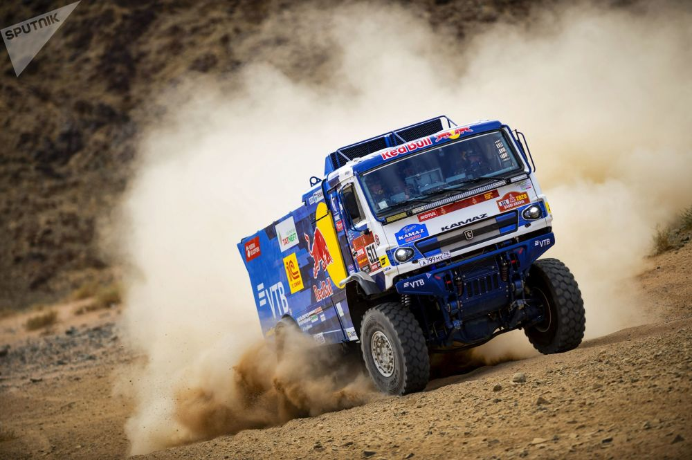 Kamaz-Master team from Russia participating in the fourth round of the Dakar-2020 truck rally in Saudi Arabia.
