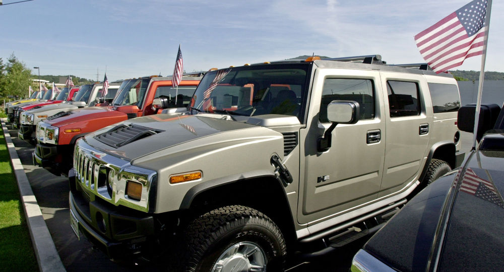 A line of Hummer vehicles for sale at a Hummer dealership in Los Gatos, Calif., Wednesday, March 31, 2004. Dealers say Hummers averages 8 to 10 miles per gallon. Crude oil prices recently reached a 14-year high, and gasoline prices are expected to average a record $1.83 this spring. The private Lundberg Survey put gas prices nationally this week at $1.80 a gallon and more than $2 a gallon in some areas. With fuel costs already at uncomfortable levels for consumers, OPEC took a step that could push prices even higher by announcing Wednesday that it would cut its crude oil production target by 4 percent.