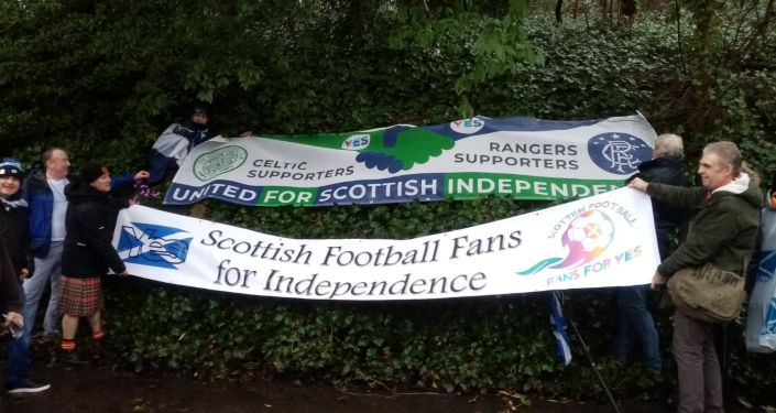 Organisers all under one banner set out their stall