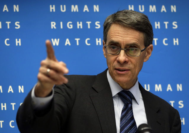 Kenneth Roth, Executive Director of Human Rights Watch, speaks during the annual press conference of the non governmental organization in Berlin, Germany, Tuesday, Jan. 21, 2014