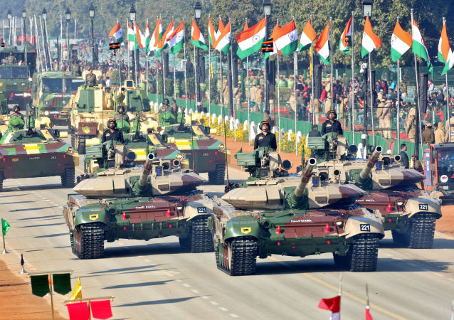 Indian Army's tanks are displayed during the full dress rehearsal for the Republic Day parade in New Delhi, India, January 23, 2020
