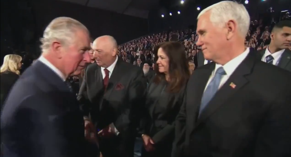 Prince Charles skips greeting US's Pence, shakes hands with Israel's Netanyahu