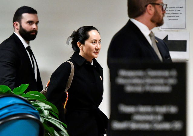 Huawei Chief Financial Officer Meng Wanzhou leaves B.C. Supreme Court following her extradition hearing at B.C. Supreme Court in Vancouver