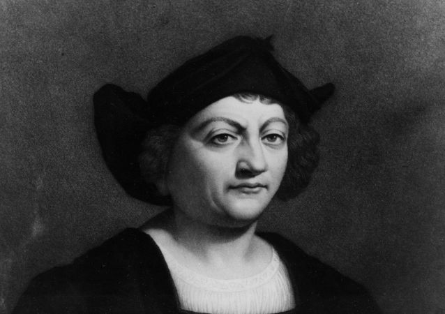Italian-Spanish explorer Christopher Columbus is shown in this work  by Italian painter Sebastiano Del Piombo.  (AP Photo)