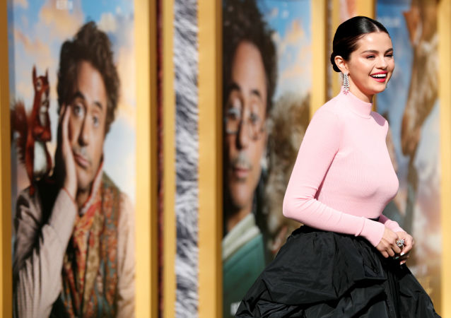 Cast member Selena Gomez poses at the premiere for the film Dolittle in Los Angeles