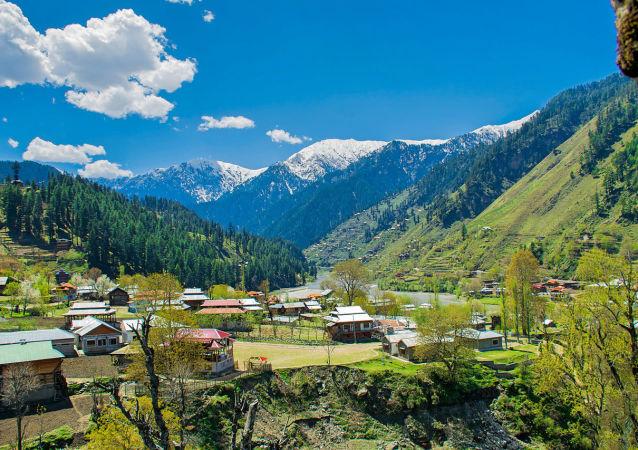 View From Sharda Fort, Azad Jammu & Kashmir, Pakistan