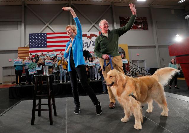 Democratic 2020 U.S. presidential candidate and U.S. Senator Elizabeth Warren