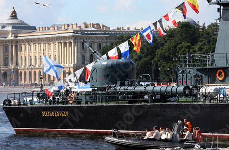 Preparing to celebrate Navy Day in St. Petersburg