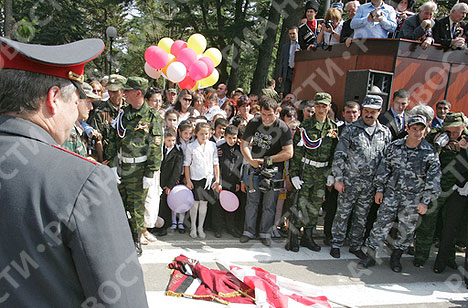 South Ossetia celebrates independence day with parade