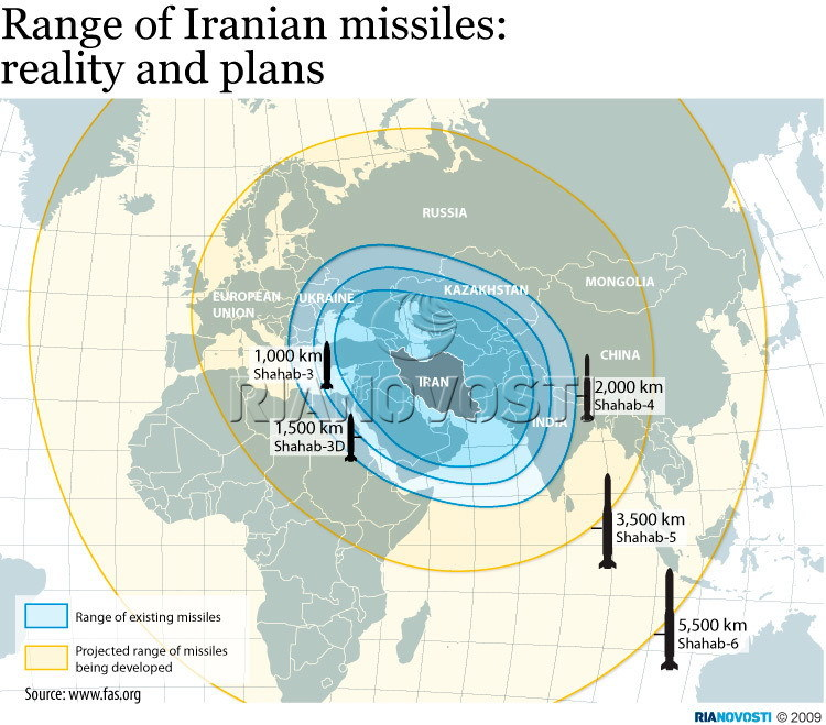 Range of Iranian missiles: reality and plans