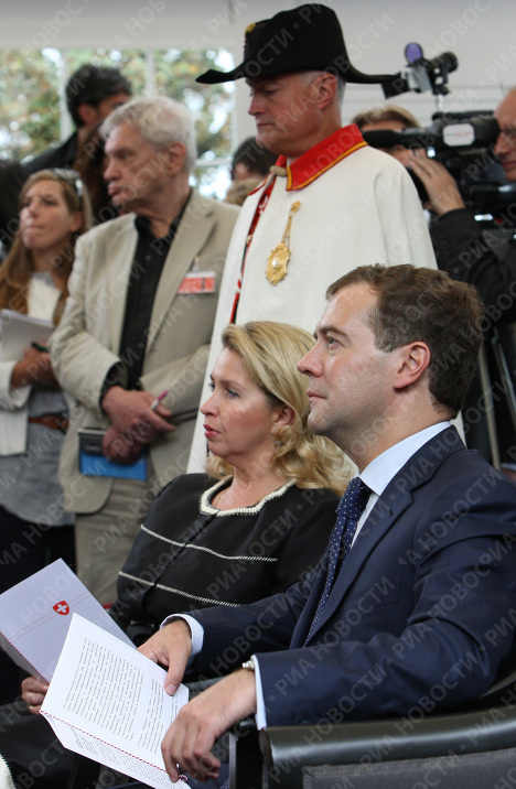 Dmitry Medvedev visits Switzerland