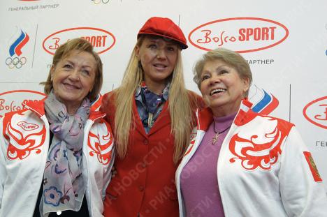 Лидия Иванова, Юлия Бордовских и Лариса Латынина