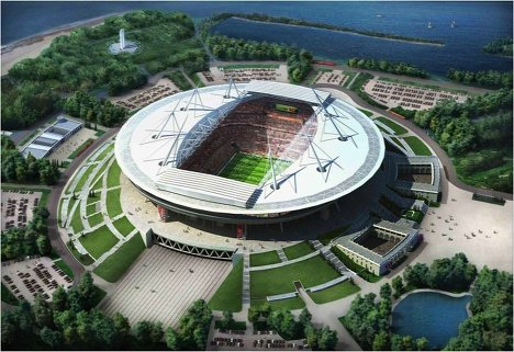 Medvedev inspects future stadium of Russian league leaders Zenit