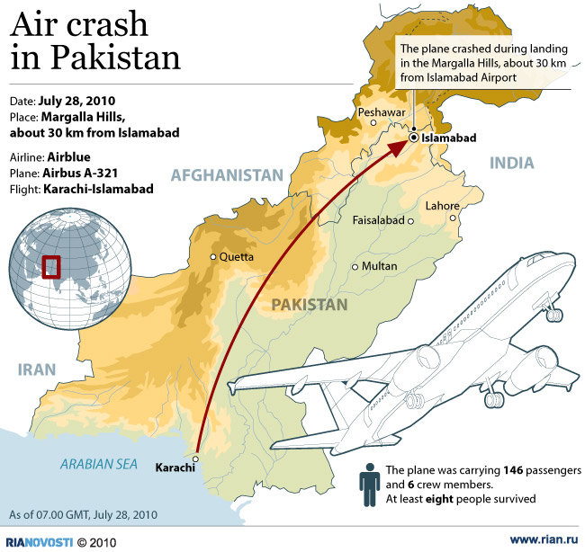 Air crash in Pakistan