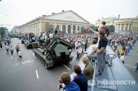 Tanks and barricades on Moscow's streets: August 19, 1991