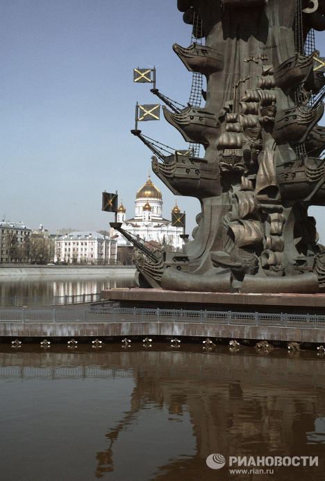 Peter the Great Statue: 98 meters of bronze, steel and copper