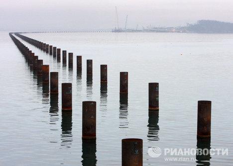 Строительство моста п-ов Де-Фриз - Седанка во Владивостоке