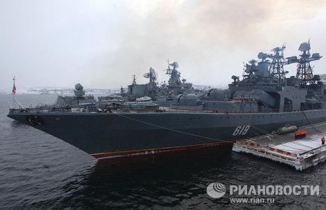 Russian Northern Fleet exercises in Barents Sea