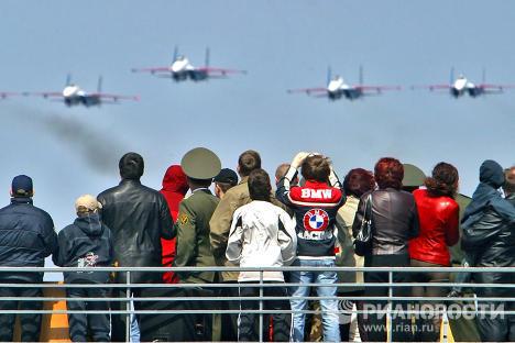 Russkiye Vityazi (Russian Knights) aerobatic team's 20th anniversary