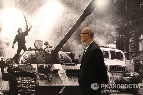 Открытие выставки Вторжение 68 Прага