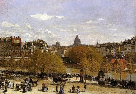 Клод Моне Набережная Лувра, 1867