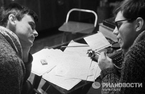 Тарковский и Кончаловский обсуждают сценарий