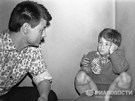 Тарковский на съемках фильма Каток и скрипка
