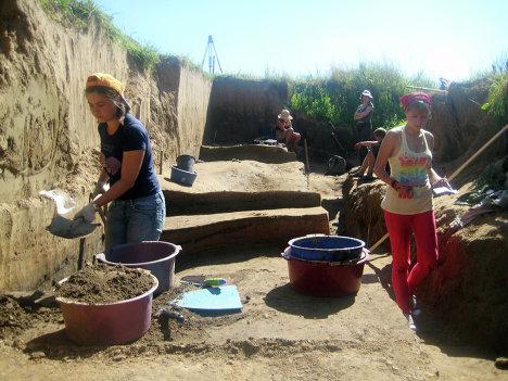 Археологические раскопки в Гнёздово