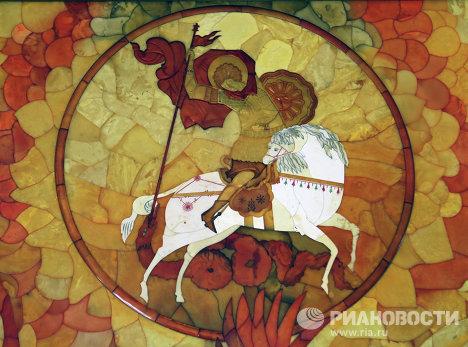 Самое большое в мире янтарное панно выставлено в Калининграде