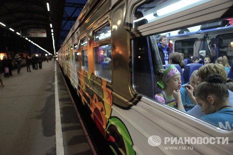 Отправление Поезда российской государственности из Санкт-Петербурга
