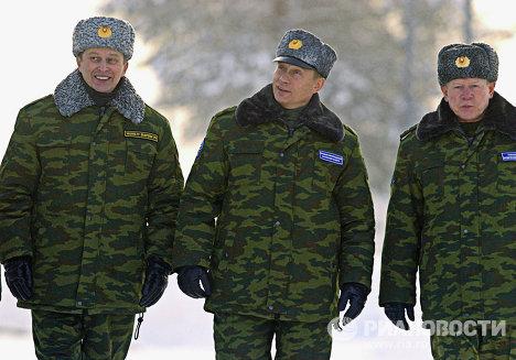 В.Путин, С.Иванов и А.Перминов на космодроме Плесецк