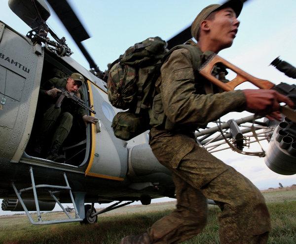 Учения морской пехоты Тихоокеанского флота и армейской авиации