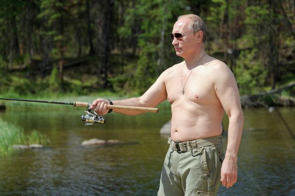 Президент РФ В.Путин на отдыхе в Тыве и в Красноярском крае