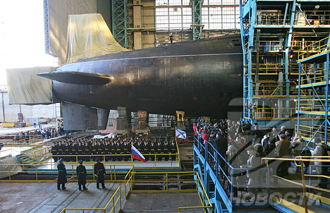 Russia launches new nuclear submarine