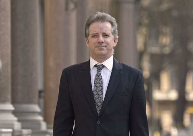 FILE - This Tuesday, March 7, 2017 file photo shows Christopher Steele, the former MI6 agent who set up Orbis Business Intelligence and compiled a dossier on Donald Trump, in London