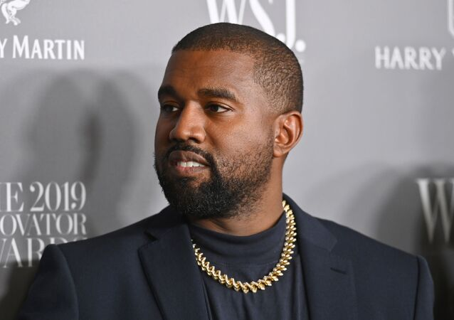 (FILES) In this file photo taken on November 6, 2019, US rapper Kanye West attends the WSJ Magazine 2019 Innovator Awards at MOMA in New York City