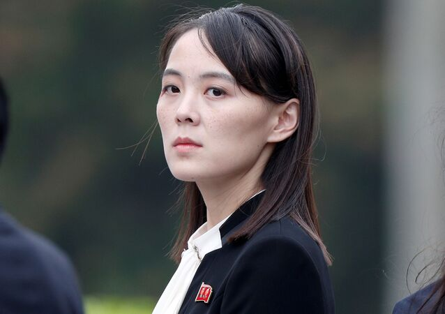 Kim Yo Jong, sister of North Korea's leader Kim Jong Un attends wreath laying ceremony at Ho Chi Minh Mausoleum in Hanoi, Vietnam March 2, 2019.