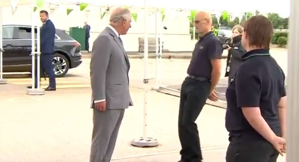 Dramatic moment supermarket worker faints while chatting to Prince Charles