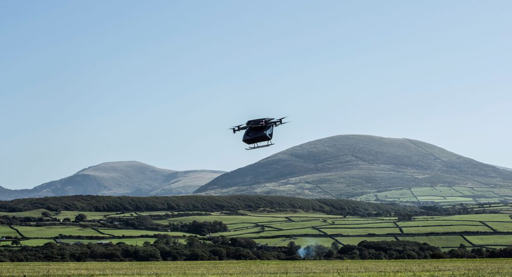 A new prototype of Vertical Aerospace drone, Seraph is tested, in Llanbedr Airfield, Wales, Britain in this undated handout photo. Vertical Aerospace