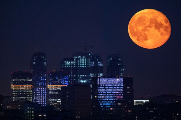 A full moon observed in Moscow, Russia. - Sputnik International